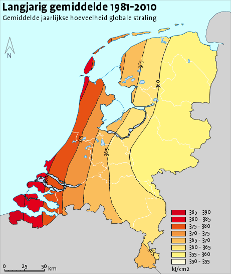 zoninstraling in Nederland